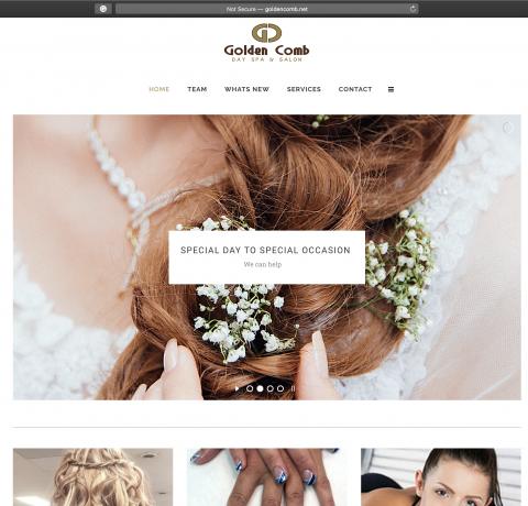 Goldencomb.net – Website